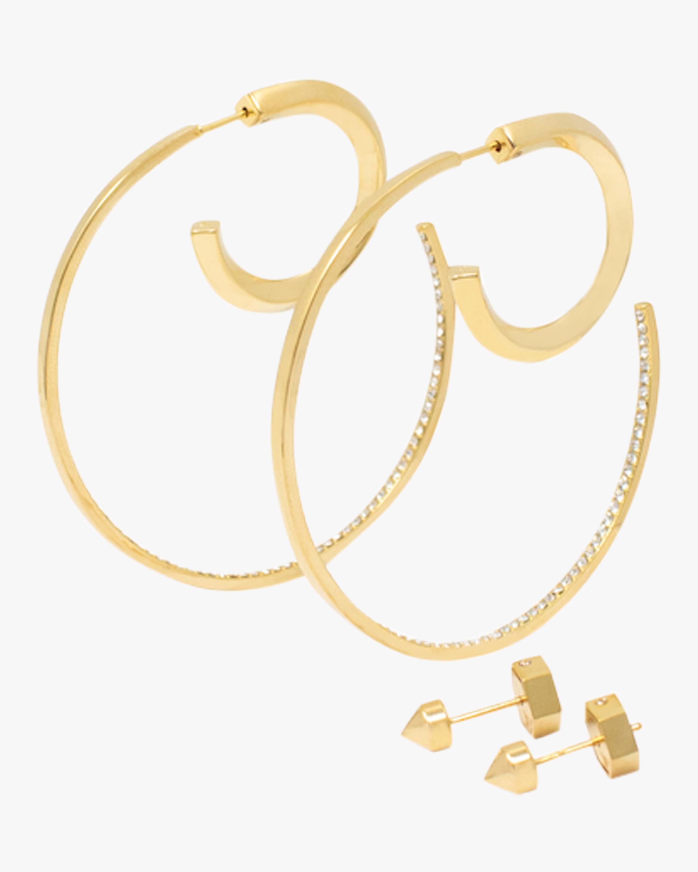 Reversible Hoop & Stud Earrings Set