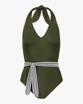 Lem Lem Lena Deep-V Belted One-Piece Swimsuit 1