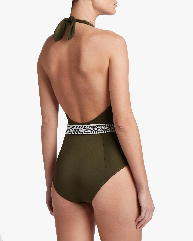 Lem Lem Lena Deep-V Belted One-Piece Swimsuit 2