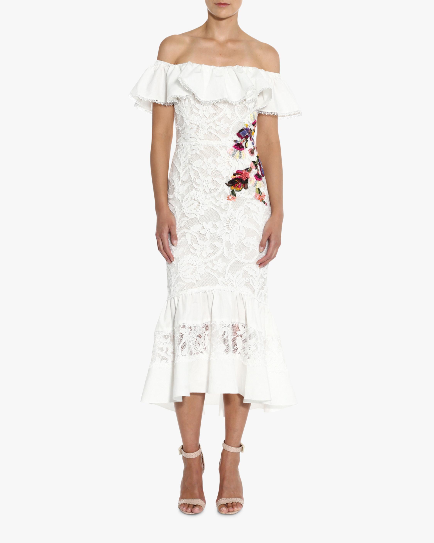 Off-Soulder Lace Mermaid Dress