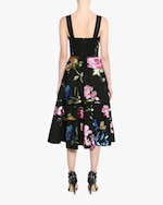 Marchesa Embroidered Lattice-Trim A-Line Dress 3