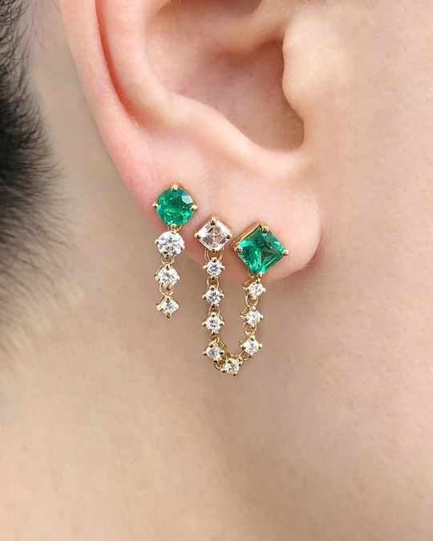 Chérut Single Duo Square Earring 1