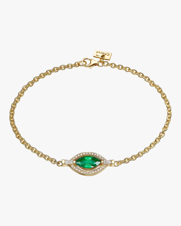 Holy Marquise Emerald Bracelet