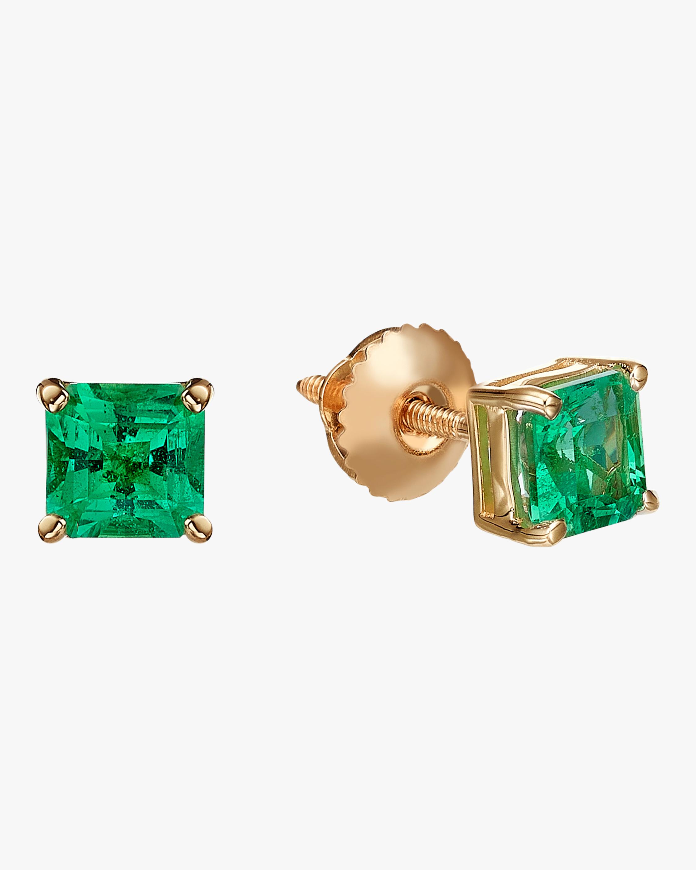 Chérut Square Emerald Stud Earrings 2