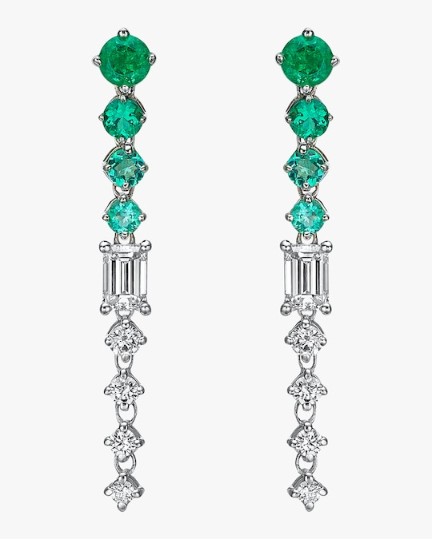 Chérut Chained Emerald Drop Earrings 0