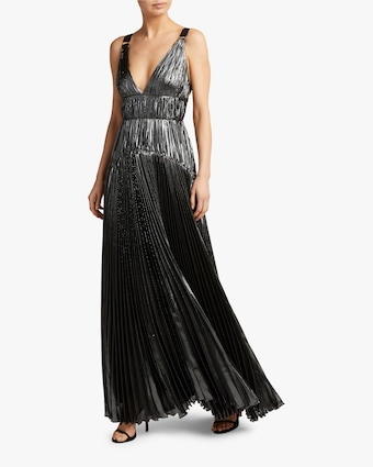 Ayana Vneck Sleeveless Gown