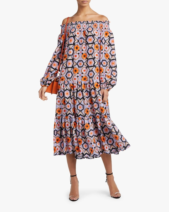 Temperley London Shirred Off-Shoulder Dress 1