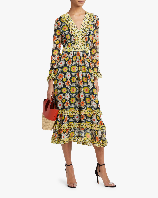 Temperley London V-Neck Tiered Midi Dress 2