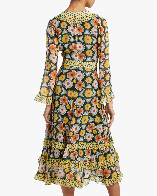 Temperley London V-Neck Tiered Midi Dress 3