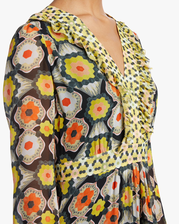 Temperley London V-Neck Tiered Midi Dress 4