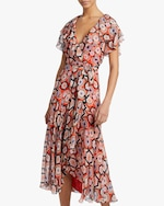 Temperley London Crochet Print Wrap Dress 2