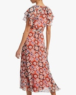 Temperley London Crochet Print Wrap Dress 3