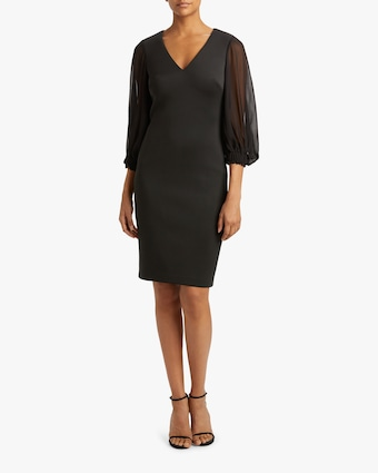 Bishop-Sleeve Day Dress