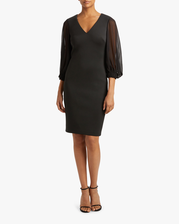 Badgley Mischka Bishop-Sleeve Day Dress 1