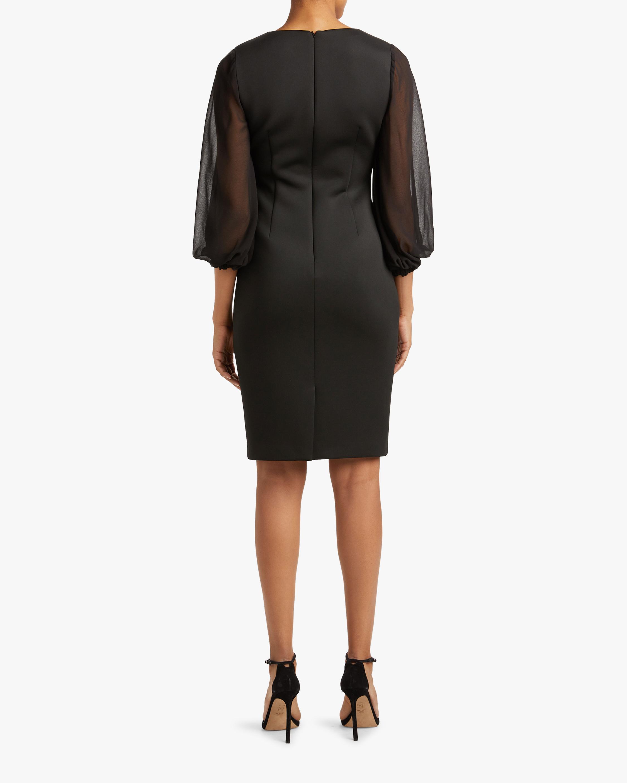 Badgley Mischka Bishop-Sleeve Day Dress 2