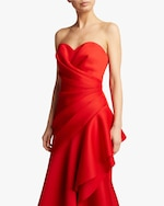 Badgley Mischka Asymmetrical Ruffle Gown 3
