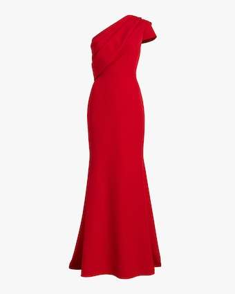 Badgley Mischka Asymmetrical Drape Gown 1