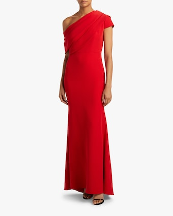 Badgley Mischka Asymmetrical Drape Gown 2