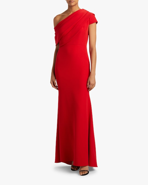 Badgley Mischka Asymmetrical Drape Gown 1