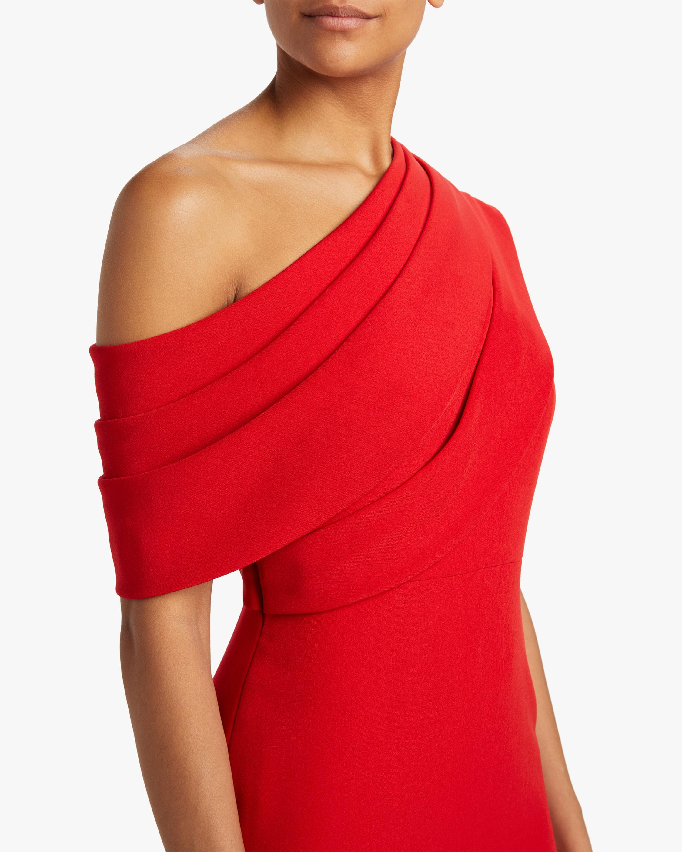 Badgley Mischka Asymmetrical Drape Gown 3