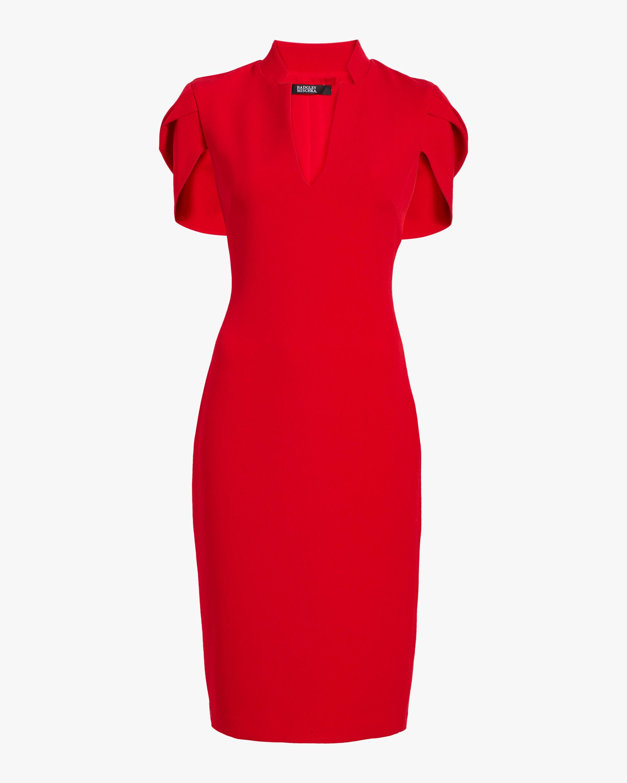 Badgley Mischka Cape-Sleeve Dress 1
