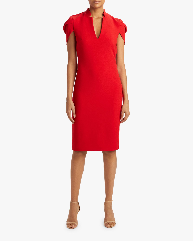 Badgley Mischka Cape-Sleeve Dress 2
