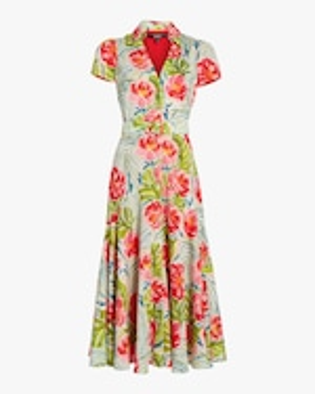 Badgley Mischka Cap-Sleeve Midi Dress 0