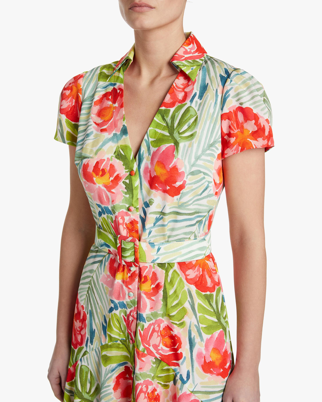 Badgley Mischka Cap-Sleeve Midi Dress 3