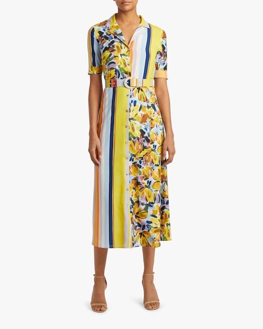 Badgley Mischka Belted Shirt Dress 1