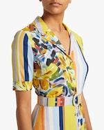 Badgley Mischka Belted Shirt Dress 3