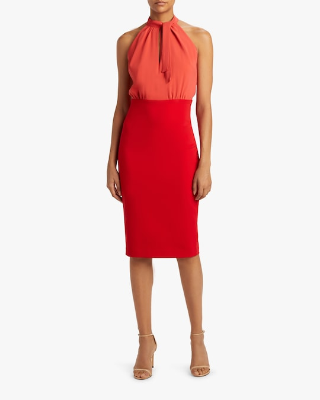 Badgley Mischka Color Block Keyhole Dress 1