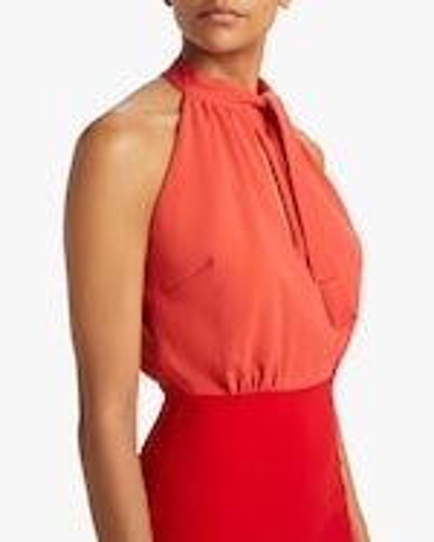 Badgley Mischka Color Block Keyhole Dress 3