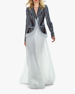 Badgley Mischka Pleated Dramatic-Leg Pants 1
