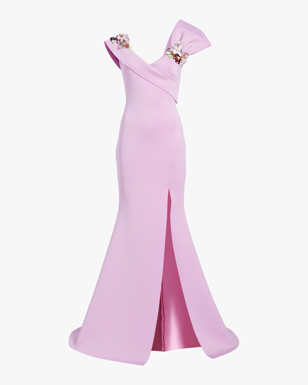 Asymmetrical Bow Gown