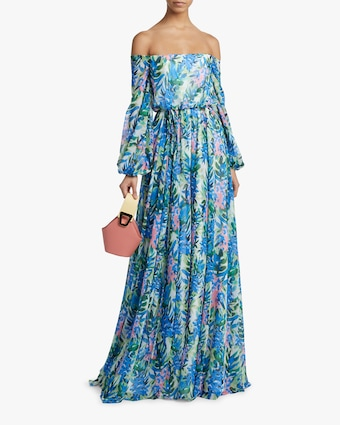 Blouson Off-Shoulder Gown