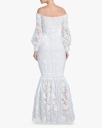 Badgley Mischka Eyelet Off-Shoulder Gown 3