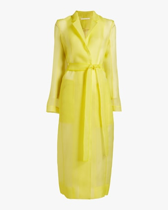 Crinkle Organza Trench Coat