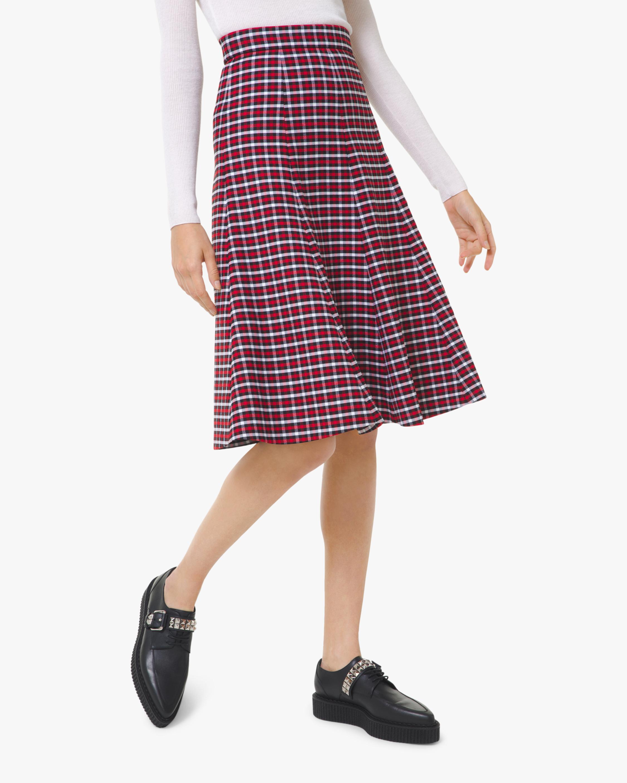 Gabardine Wool A-Line Skirt