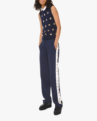 Double-Crêpe Sable Star Tuxedo Pants
