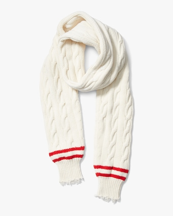 Corallina Frayed-Sleeve Cashmere Scarf