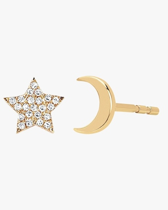 Mini Star & Moon Stud Earrings