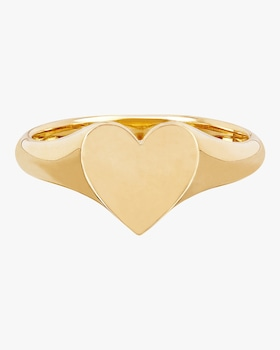 Heart Signet Pinky Ring