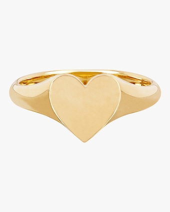 EF Collection Heart Signet Pinky Ring 2