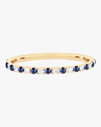 EF Collection Diamond & Blue Sapphire Dot Eternity Band 1