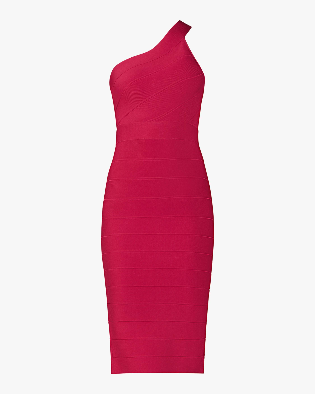 Herve Leger New Icon Asymmetrical One Shoulder Dress 0