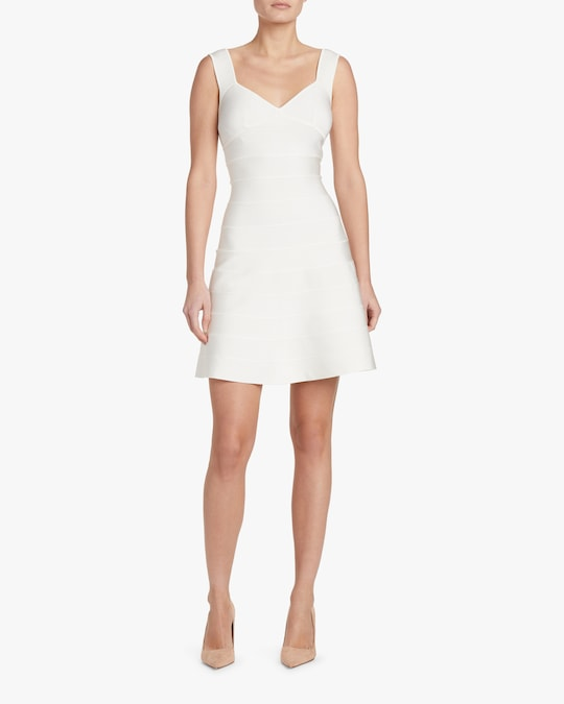 Herve Leger Icon Flare-Skirt Dress 1
