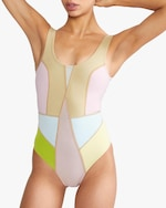 Cynthia Rowley Kalleigh Color-Block One-Piece 0