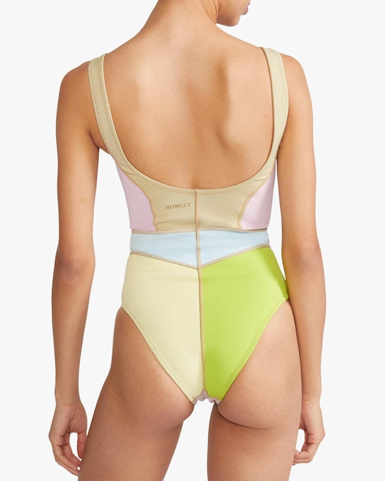 Cynthia Rowley Kalleigh Color-Block One-Piece 1