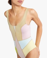 Cynthia Rowley Kalleigh Color-Block One-Piece 2