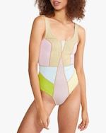 Cynthia Rowley Kalleigh Color-Block One-Piece 3